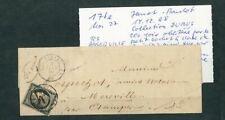 """À VOS OFFRES ! [127] CERES lettre timbre n°3 4 janvier 1849 """"collection Dubus"""""""
