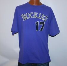 Vtg Original 1990s COLORADO ROCKIES Todd Helton #17 MLB Majestic Jersey Shirt 2X