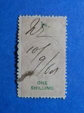1867 1S NEW ZEALAND STAMP DUTY REVENUE BAREFOOT# 91 USED DIE I PERF 12.5 CS33144