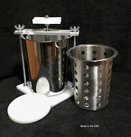 STAINLESS STEEL CHEESE PRESS - W/ SS SOFT CHEESE MOLD-SPRING ASSISTED- ORGANIC