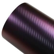 AU Chameleon Purple With Blue Carbon Fiber Car Vinyl Wrap Sticker 1.52M x 75CM
