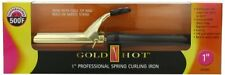 """Gold N Hot 24k Gold Coated 1"""" Professional Spring Iron - Gh194 - Ac Supply"""