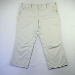 Nike Golf Dri-Fit Beige Performance Cropped Pants Women's Size 14  37W 23L