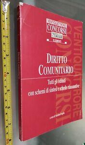 GG LIBRO:  DIRITTO COMUNITARIO - TUTTI GLI ISTITUTI MASSIMO FRAGOLA  2005