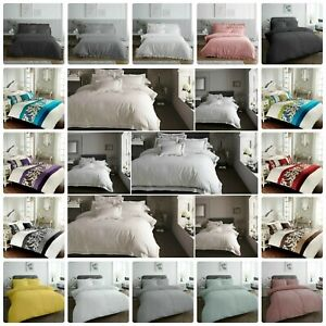 Hotel Collection Duvet Quilt Cover Bedding Set With Pillowcases All Sizes