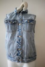 Abercrombie & Fitch Boyfriend Denim Jean Vest Jacket Coat Women's S (M) Blue