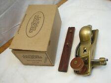 Lie Nielsen Bronze Skewed Block Plane No. 140 Wood Tool w/ Box Fence Skew Angle