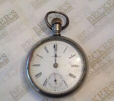 Antique 1898 Waltham Nickel Silver Pocket Watch, ser # 8880133 Fahys Case