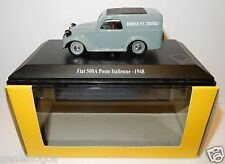 RARE UNIVERSAL HOBBIES FIAT 500 A ITALIENNE 1948 POSTES POSTE PTT 1/43 luxe box