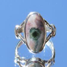 Ocean Jaspis Ring, 925er Silber, Edelsteinring (20755), Chalcedon, Achat
