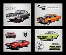 4 PLYMOUTH PRINTS 1968 1969 1970 SUPERBIRD ROADRUNNER 318 383 440+6 SIX-PACK 440