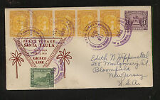Costa nice franking cover Grace Line Santa Paula 1933 Ms0306