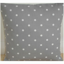 "14"" Cushion Cover Silver Smoke Grey and White Polka Dots Pillow Dotty Spot"