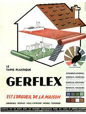 Publicité ancienne le tapis plastique Gerflex issue de magazine 1953