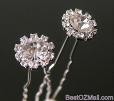 Wedding Bridal Rhinestone Hair Pins Ladies Womens Jewellery Hair Accessories
