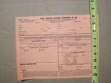 1957 HARLEY DAVIDSON ORIGINAL PRICE LIST HUMMER & 165
