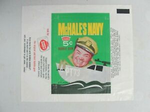 Vintage 1965 Fleer McHale's Navy Trading Cards Wax Wrapper