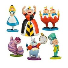 Alice in Wonderland Playset 6 Figure Cake Topper * USA SELLER* Toy Doll Set