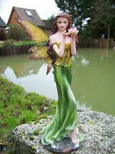 15401  FIGURINE  STATUETTE FEE  ELFE    FAIRY MEDITATION    HEROIC  FANTASY