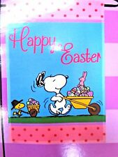 "PEANUTS GANG  ""HAPPY EASTER"" Small  Garden Flag SNOOPY"