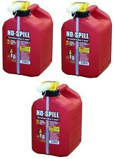(3) No Spill 1405 2-1/2 Gallon Carb Compliant Gas Gasoline Fuel Cans