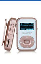 KLANTOP MP3 Player 8GB Bluetooth Digital Clip Music Player FM Radio Voice