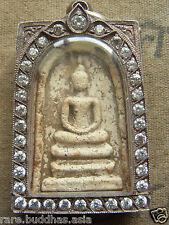 Somdej Toh Ketbuatoom  Wat Rakhang Buddha Amulet ,100% Genuine, Silver case
