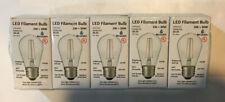 30 Watt Equivalent ST14 Clear Glass Filament LED Light Bulb 5000K Med. E26 Base