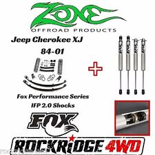 "ZONE 4.5"" Jeep Cherokee XJ 84-01 Suspension Lift Kit Dana 35 W/ FOX PERFORMANCE"
