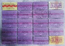 Used Sri Lankan Different 20 Railway Train Tickets For Collectors Old Edmonson