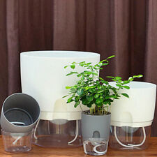 Transparent plastic flower pot, pots for plants self watering planter, plant pot