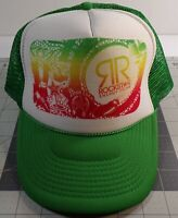 VTG Rockstar Energy Drink Green and White Hat Nissun Cap Snap Back Hat Old Race