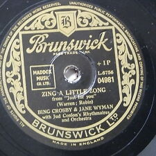 78rpm JANE WYMAN maiden of guadalupe / ZING A LITTLE ZONG - with bing crosby