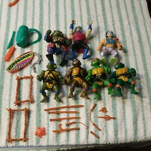 1988 TMNT Action Figures Lot , Raphael Leonardo Playmates Toy Mirage Studios