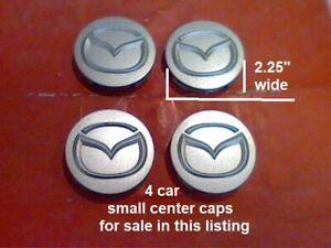 """1994-2003 4 Mazda 626 Millenia MPV Protege Center  Cap Caps silver 2032 M7 2.25"""""""