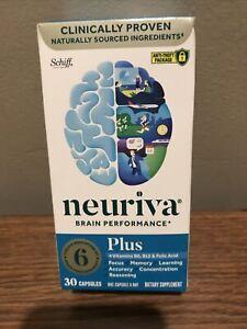 1 Of Brand New Schiff Neuriva Brain Performance Plus - 30 Capsules Exp: 12/2022