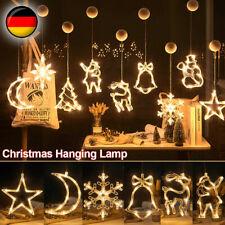 Weihnachtsbeleuchtung LED Lichtervorhang Lichterkette Licht Fenster Deko Party