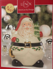 "Lenox Holiday Santa Claus Cookie Jar Small 8"" And 2 Salt/Pepper Sets"