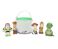 DISNEY Toy Story 4 Squeezy Bath Toy Set Playset5 x Figures - Buzz Woody **NEW**