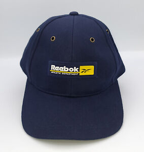Reebok Atlethic Department Vintage Strap Back Adjustable Cap - Navy