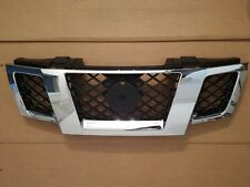 fits 2009-2016 NISSAN FRONTIER Front Bumper Upper Grille Black & Chrome NEW