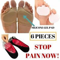Metatarsal Cushion Silicone Gel Pad Ball Of Foot Pain Fore Foot Shoe Insole