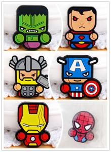 6p Avengers Superhero Spiderman FRIDGE MAGNET Kids Memo Party Bag Fillers Board