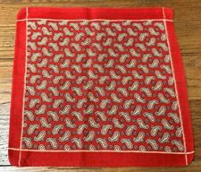 Vintage Turkey Red Paisley Small Print Handkerchief Collection Find!