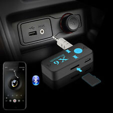 X6 Wireless Bluetooth Aux Audio Receiver Adapter Handsfree Car Kit MP3 Player DE