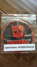 2016 SDCC COMIC CON EXCLUSIVE HASBRO TRANSFORMERS EARTH WARS PROMO PATCH RED