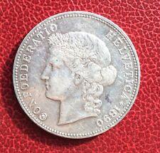 Suisse -  Rare  et Très Jolie Monnaie de 5 Francs 1890  - Helvetia
