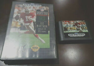 NFL Sports Talk Football '93 Starring Joe Montana (Sega Genesis) GAME CARTRIDGE+