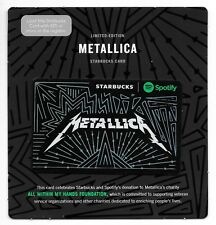 Starbucks Limited Edition Metallica Spotify Gift Card 2017 Mint