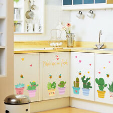 Cartoon Colorful Plants Line Kindergarten Children Room Wall Sticker Romantic 1